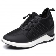 4 Inch Elevator Trainers Breathable Hollow Out Height Increasing Walking Shoes Taller 10cm