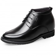 High Top Woolen Lining Dress Shoes Height Increasing 7cm / 2.8inch Taller Formal Shoes