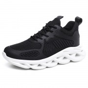Black Younger Hidden Taller Sneakers Mesh Breathable Trail Runners Add Height 2.8inch / 7cm