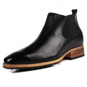 British men height increasing tooling boots taller 7cm / 2.8inches black chelsea boots
