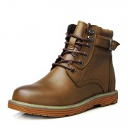 Retro British pop elevator boots increase height 8cm / 3.15inches men tide tall boots
