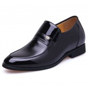British gentleman elevator dress shoe get taller 7cm / 2.75inches height increasing wedding shoes