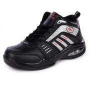 Men hidden heel athletic shoes 8cm / 3.2inch black extra tall running shoes