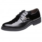 British sharp elevator wedding shoes 8cm  / 3.2 inch black lace up groom tuxedo shoes