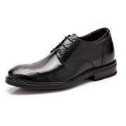 Fashion elevator business shoes 6cm / 2.36inch black taller derbies