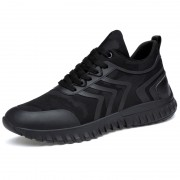 Korean Taller Fashion Sneakers Black Elevator Casual Sports Shoes Height 3.2inch / 8cm