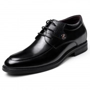 European exalted elevated wedding shoes 6cm / 2.36inch black men taller party shoes