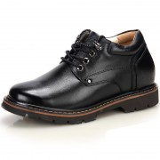 Casual Business Taller Shoes Increase Height 3.5inch / 9cm Black Lace up Elevator Shoes