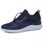 Ultra Light Extra Taller Sneakers 3.5nch / 9cm Blue Height Increasing Elevator Walking Shoes
