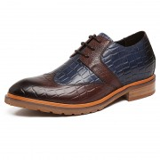 Height 2.4inch / 6cm fashionable brown elevtor cap toe formal derby shoes