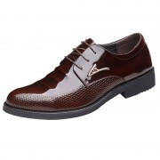 British sharp tall wedding shoes 8cm  / 3.2 inch dark brown lace up groom tuxedo shoes