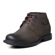 Retro brown height big shoes for tall 6.5cm / 2.56inches elevator nubuck casual shoe