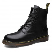 British Height Increasing Combat Boots Fashion 8 Eyelet Elevator Motorcycle Boot Tall 3.2inch / 8cm