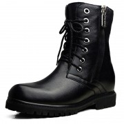 Stylish height elevator cowboy boot increase 6.5cm / 2.6inches taller motorcycle boots