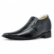 Men dress style height increasing elevator shoes 8cm / 3.15inches taller