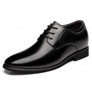 Trendy Elevator Business Shoes Add Taller 2.6inch / 6.5cm Black Formal Shoes