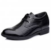 2014 new British business elevator shoes add height 7cm / 2.75inches black tall men dress shoes