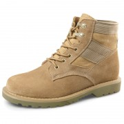 2018 Taller Men Military Boots Nubuck Leather Elevator Combat Boot 2.4inch / 6cm Height Work Boot