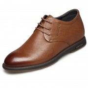 Quality Nubuck Elevator Shoes Height 2.4inch / 6cm Brown Taller Business Casual Shoes