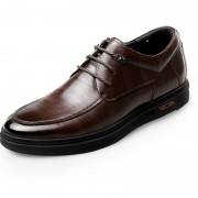 European Elevator Business Dress Shoes 2.4inch / 6cm Brown Calfskin Height Increasing Formal Shoes