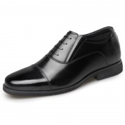 Classic Elevator Military Officer Shoes Cap Toe Sergeant Oxfords Increase Height 2.6inch / 6.5cm