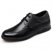 Casual Business Elevator Shoes Lace Up Soft Cowhide Oxfords Increase Height 2.2inch / 5.5cm