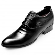 Korean Elevator Wedding Shoes Extra Taller 2.8inch / 7cm Lace Up Height Increasing Tuxedo Shoes