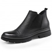 Designer Elevator Chelsea Boots Cap Toe Hidden Lift Casual Ankle Boot Gain Taller 2.8inch / 7cm