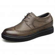 Comfort Elevated Brogue Shoes Wingtip Lace Up Casual Oxfords Taller 2.6inch / 6.5cm