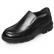 Slip on business shoes height elevator dress loafers 2.6inch / 6.5cm