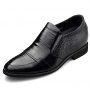 Supreme cap toe taller tuxedo shoes 6.5cm / 2.56inch elevator formal boat shoes