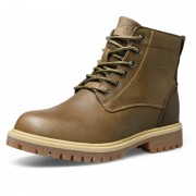 Retro lace up height increasing elevator men's work boots 3.2inch / 8cm