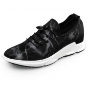 Relaxed elevator racing shoes 2.4inch / 6cm taller slip on running shoes