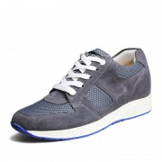 summer increased height shoes for men grow taller 6.5cm / 2.56inches dark grey elevator sneakers