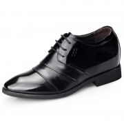 Honorable men elevator tuxedo shoes 6.5cm / 2.56inch taller formal wedding shoes