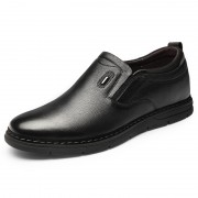 Comfortable Hidden Lift Loafers Soft Slip On Leather Casual Shoes That Give Taller  2.4inch / 6cm