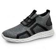 Comfortable Elevator Knit Sock Sneaker Light Gray Hidden Lift Running Shoes Look Taller 2.4inch / 6cm