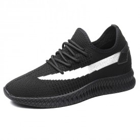 Designed Height Elevator Sneakers Breathable Flyknit Hidden Lift Running Shoes Taller 3.2inch / 8cm