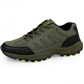 Lightweight Elevator Men Hiking Shoes Increase Height 6.5cm / 2.6inch Green Outdoor Shoes