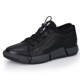 Hidden Lift Men Sneakers Suede Leather Casual Sports Shoes Increase Height 2.4inch / 6cm
