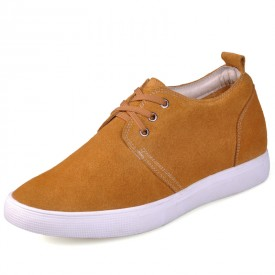 Korean style Yellow  height casual shoes get you taller 6cm / 2.36inches invisibly