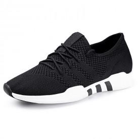 Comfortable Hidden Lifts Flying Shoes Low Top Elevator Sneakers Get Talller 2.4inch / 6cm