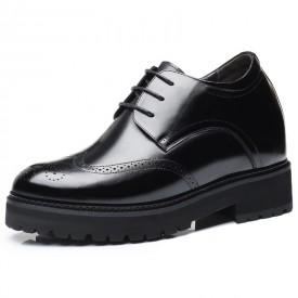 Europe Groom Wedding Elevator Shoe Get Taller 10cm / 4inch Height Increasing Brogue Shoes