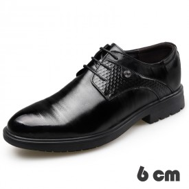 Gentlemen Elevator Shoes Lace Up Business Dress Shoes Add Taller 2.4inch / 6cm