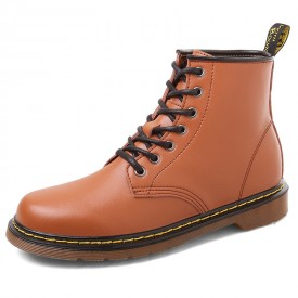 British Height Increasing Ankle Boots Extra Taller 3.2inch / 8cm Brown Elevator Cowboy Boots
