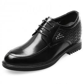 Premium height elevator wedding shoes black formal derbies 3.2inch / 8cm