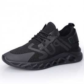 Trendy Steel Toe Elevator Shoes Mesh Heighted Sneakers Breathable Runner Shoes Taller 2.4inch / 6cm