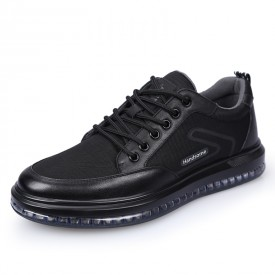 Superior Mesh Lift Sneaker Lace Up Taller Casual Walking Shoes Increase Height 2.8inch / 7cm