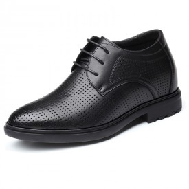 Hollow Out Elevator Oxfords Men Sandals Dress Shoes Add Taller 3.2inch / 8cm