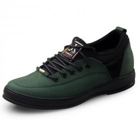 Green fashion height increasing men casual shoes 6.5cm / 2.56inch lace-ups walking shoes